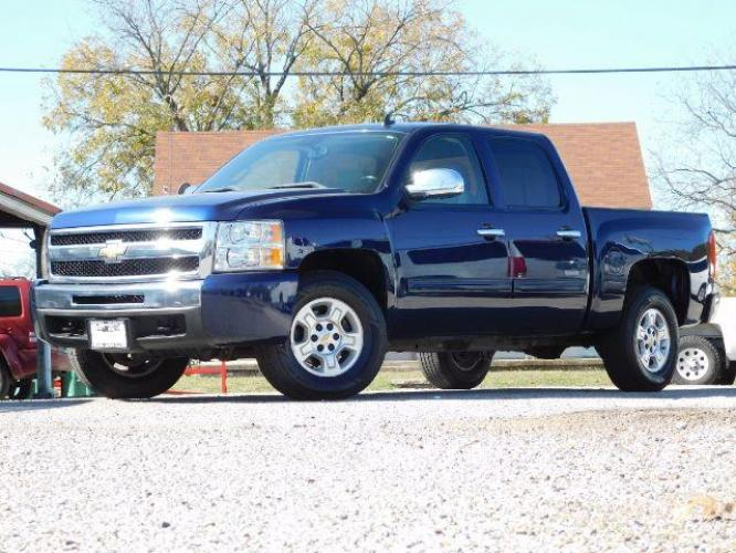 2009 Blue Granite Metalli /Light Titanium/Ebony Chevrolet Silverado 1500 LT1 Crew Cab 2WD (3GCEC23059G) with an 5.3L V8 OHV 16V FFV engine, 6-Speed Automatic transmission, located at 900 South McDonald Street, McKinney, TX, 75069, (972) 529-2992, 33.189335, -96.613403 - Photo #0